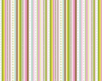 Stitch Bubblegum - Maude Asbury -  Blend Fabrics. 1 Yard Cut