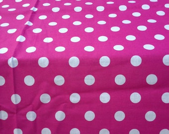 """One 30"""" X 30""""  Polka Dot Square Table Toppers with any Color Trim  make your on color"""