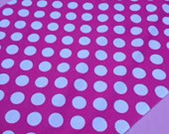 """One 20"""" X 20 Any color you may need with White Polka Dot Square Table Topper only"""