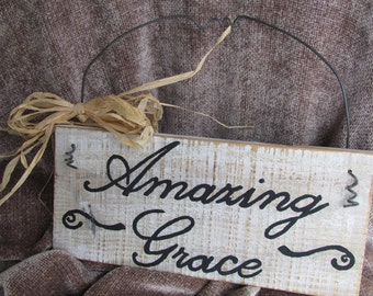 Popular Items For Amazing Grace Sign On Etsy