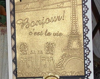 FRENCH BISTRO - PARIS Sidewalk Cafe  -In STOcK NoW from  Darice- NeW !!