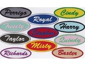 Custom Patch 1.5 X 4 Oval Embroidered Patch Name Patch Personalized
