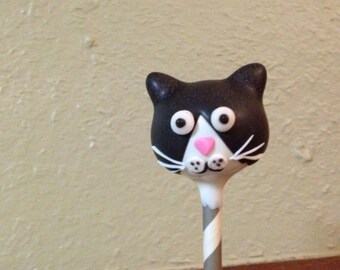 Black & White Tuxedo Cat Cake Pops