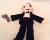 Hand crafted crochet Daniel Craig from James Bond 007