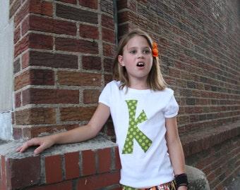 Custom Initial Applique Shirt