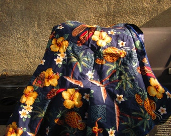 Hand-Made APRON in Hawaiian Print for Women: Mediuim or Large and Extra Large