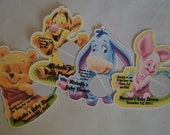 Unique Personalized Winnie the Pooh, Tigger or Eyore Baby Shower Scratch Off Lotto Game Cards