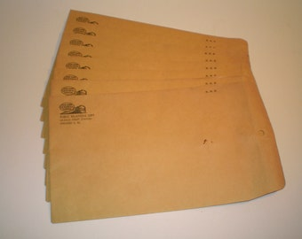8 Vintage Railroad Envelopes, Unused New York Central System 7 X 10 Envelopes, NYCS, LaSalle St Station, Chicago, Railroad Memorabilia