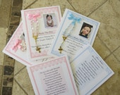 30 BAPTISM FAVORS rosary cards for Daisy