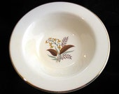 6 Lifetime China Linden Rimmed Soup Bowls Set of 6 Mid Century Dinnerware Vintage 1960s
