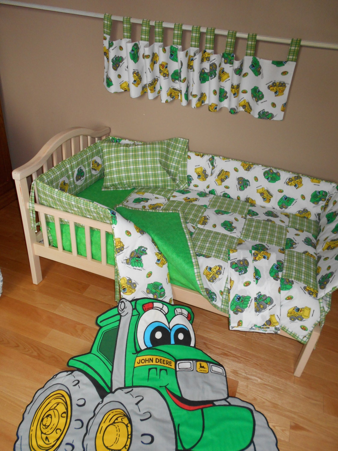 john deere johnny tractor crib bedding set quilt wall by