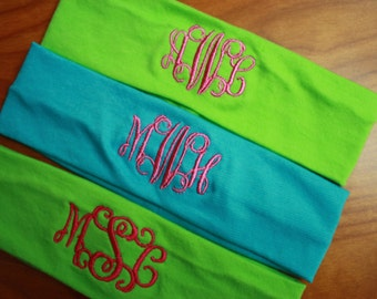 Custom Monogrammed Stretch Headband