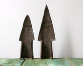Forged sculptural plough tips