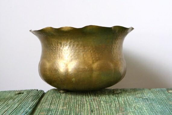 RESERVED JANICE - 20% SALE - Vintage Italian brass pot holder