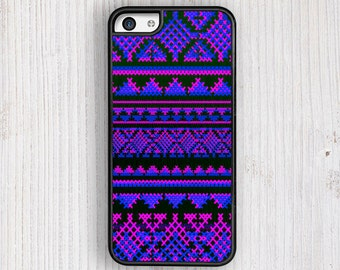 Blue AZTEC Pattern iPhone 5 / 5S Case,Pink Bohemian iPhone 6 / 6S Case, iPhone 5S cover, Aztec iPhone 4 Case, Neon Pink iPhone 4s Case