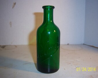 1890's Palmer Teal Green 5 1/4 inch Perfume bottle