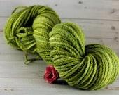 Sage Hand Dyed Yarn, worsted merino yarn, green yarn