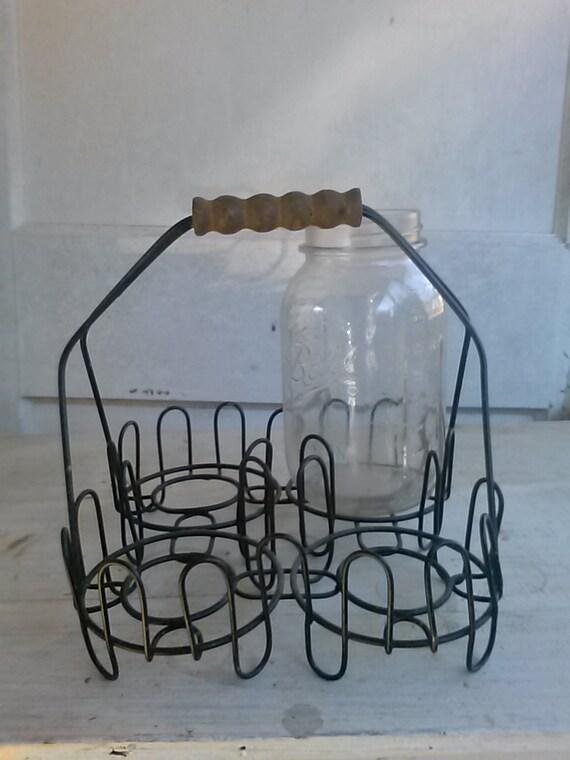 Farmhouse Jar Caddy Farmhouse Utensil Holder Mason Jar