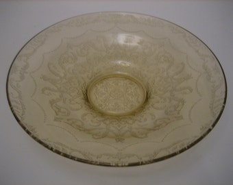 Federal Glass Low Console Bowl