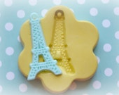 DM0023 Eiffel Tower Paris Charm Mold Mould Silicone Rubber Flexible Food Safe Mould Mold- fondant, resin, chocolate, candy, decoden, kawaii