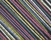 "Windham Born to Quilt Diagonal Stripes by Another Point of View in Multi 18"" Remnant"
