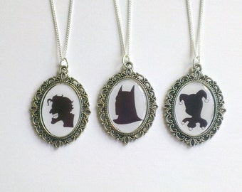 Heroes and Villains Cameo Necklace