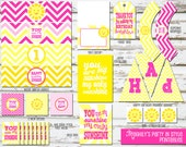 INSTANT DOWNLOAD - You Are My Sunshine -  Birthday Printable Package