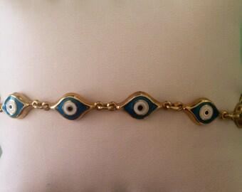 14K Yellow Gold Eye Bracelet