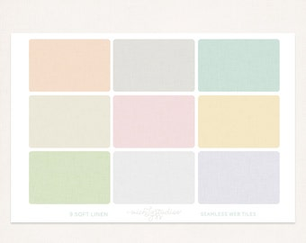 9 Soft Linen seamless webtile tiles/blog or website background