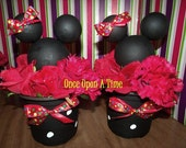 2 RED Minnie Mouse Party Decorations