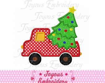 Instant Download Christmas Tree Truck  Applique Machine Embroidery Design NO:1422