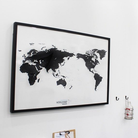 Black and white world map gumiabroncs Choice Image