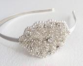 Pearl headband, 1920s headpiece,Pearl headpiece, 1920s Flapper Bridal Headband, bridal headband, art deco bridal hair accessories PEARL