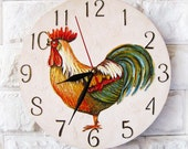 Made to Order The Rooster Wall Clock, Home Decor for kitchen