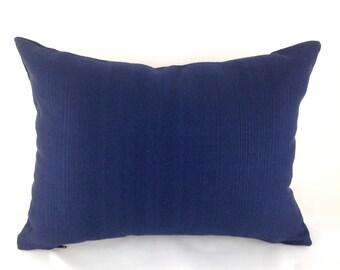 Outdoor Navy Lumbar Pillow Decorative Pillow Cover Navy Blue Pillow Outdoor Pillow Richloom Forsythe Outdoor Navy