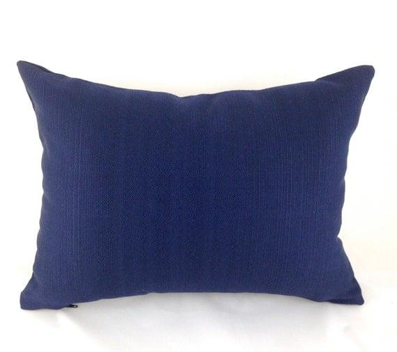 Navy Outdoor Lumbar Pillow Decorative Pillow by MyPillowStudio