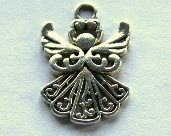 5 Lovely Antique Silver Angel Charms/Pendants