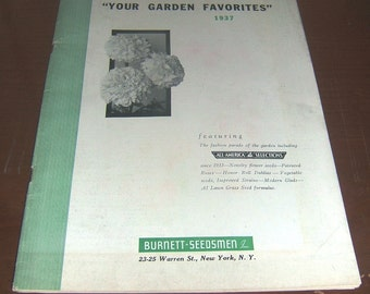 Burnett Seedsman 1937 Garden Favorites Catalog