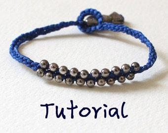 eBook (Fish and Bubbles) - A Tutorial to Friendship Bracelet/Wish Bracelet-Instant Download Pattern - FREE SHIPPING
