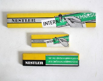 SALE 50 OFF Vintage Lettering Guides Nestler West Germany Office Art Tools Craft Supplies