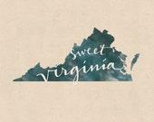 Virginia print