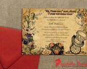 Vintage Sketch Mad Hatter & Watch Invitation Collection Part 2 (Design Fee)
