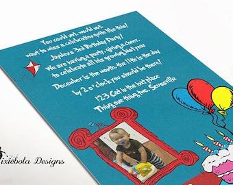 Dr. Seus Inspired Photo Birthday Invitaiton ( Design Fee)