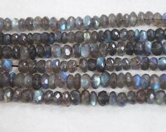 Coated Multicolor Stones Rondelle Shape Micro faceted Beads