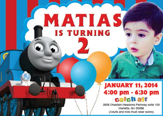 Thomas And Friends Personalized Invitation Pictures To Pin On - Birthday invitation card thomas and friends