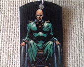 Professor X, Professor Charles Xavier, Marvel X-Men Upcycled Comic Book Tag, Includes Necklace