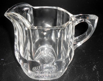 Vintage Creamer, Glass, Clear, Pitcher, Small