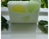 HANDMADE SOAP Key Lime Gylcerine and Goatsmilk Bar Smells so Yummy