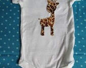 Giraffe Iron On Applique - giraffe applique for shirts or jungle quilt