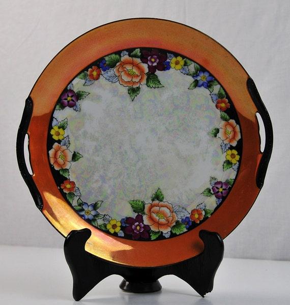 Noritake Plate Lustreware Art Deco Cake Serving by ...